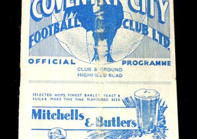 Coventry v Aston Villa 12.03.1938