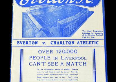 Everton v Charlton 16.04.1938