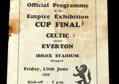 Celtic v Everton 10.06.1938 (Empire Final)