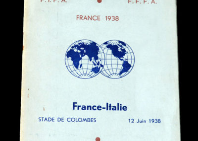 France v Italy 12.06.1938 (World Cup Quarter Final)