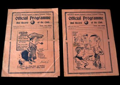 Spurs v Barnsley 25.09.1937   Spurs v Manchester Utd 09.10.1937