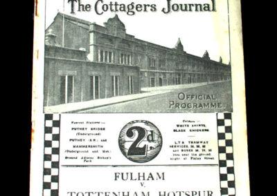 Spurs v Fulham 16.10.1937