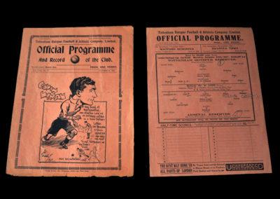 Spurs v Plymouth 23.10.1937   Spurs Reserves v Arsenal Reserves 25.10.1937