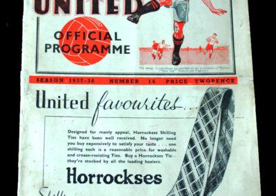 Spurs v Manchester Utd 19.02.1938