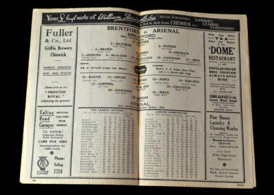 Brentford v Arsenal 18.04.1938