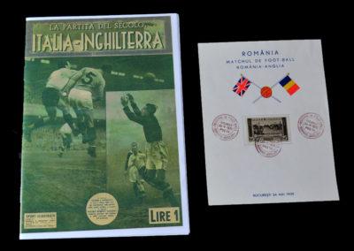 Italy v England 13.05.1939 | Romania v England Postcard 24.05.1939