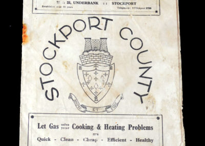 Stockport v Walthamstow 10.12.1938 2nd rd 0-0