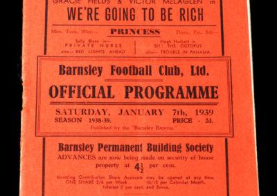 Barnsley v Stockport 07.01.1939 3rd rd 1-2