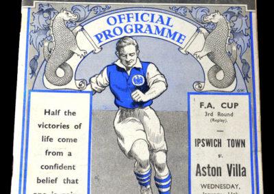 Ipswich v Aston Villa 11.01.1939 3rd rd rep 1-2