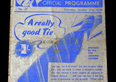 Preston v Aston Villa 21.01.1939 4th rd 2-0