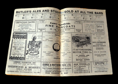 Wolves v Everton 04.03.1939 6th rd top two. 2-0