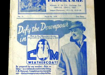 Blackburn v Huddersfield 09.03.1939 6th rd rep 1-2