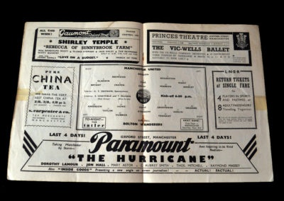 Man Utd v Bolton 31.08.1938