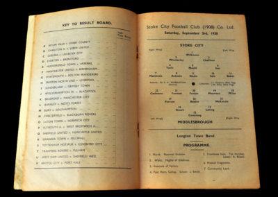 Stoke v Middlesbrough 03.09.1938