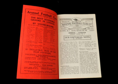 Arsenal v Everton 10.09.1938