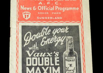 Sunderland v Arsenal 01.10.1938