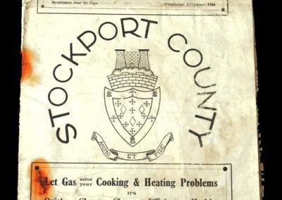Stockport v Crewe 15.10.1938