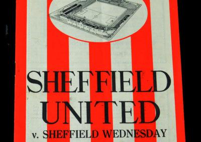 Sheffield Utd v Sheffield Wednesday 29.10.1938