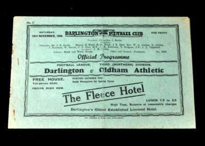 Darlington v Oldham 19.11.1938