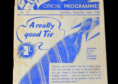 Preston v Aston Villa 26.11.1938
