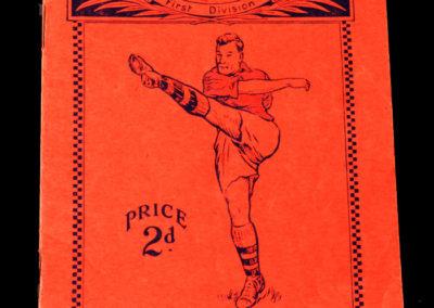 Arsenal v Stoke 17.12.1938