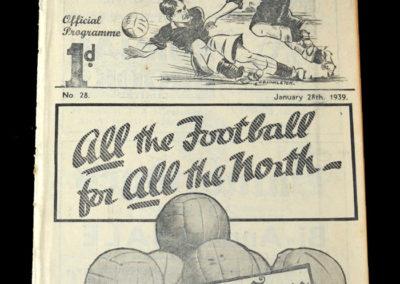 Newcastle Reserves v Bolton Reserves 28.01.1939