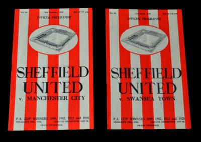 Sheff Utd v Man City 25.02.1939 | Sheff Utd v Swansea 11.03.1939