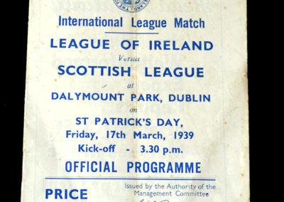 Irish League v Scottish League 17.03.1939