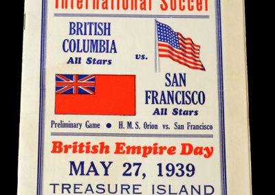 British Columbia v San Francisco 27.05.1939