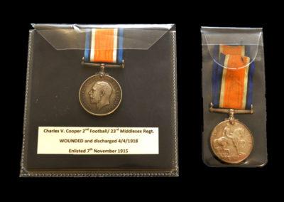 1918 Football Palls Battalion Medals