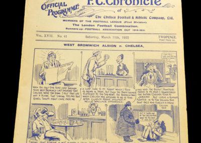 Chelsea v West Brom 11.03.1922