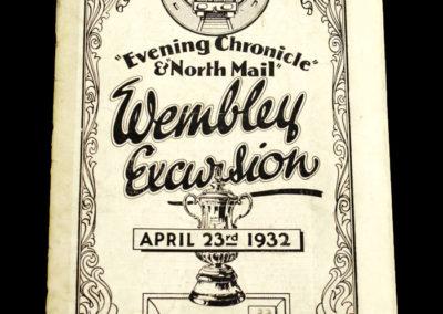 Newcastle FA Cup 23.04.1932 Wembley Train Excursion Souvenir