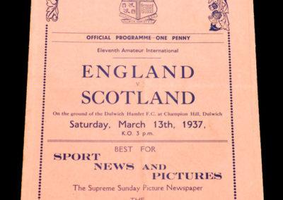 England v Scotland 13.03.1937 (Amateur Match)