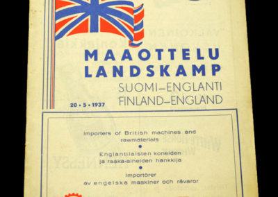 Finland v England 20.05.1937