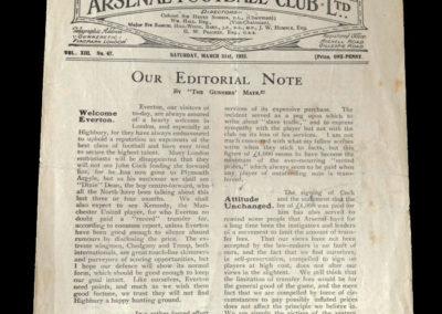 Arsenal v Everton 21.03.1925