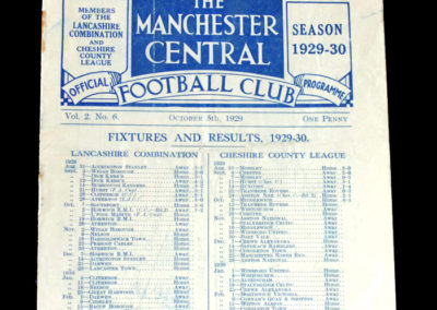 Manchester Central v Marine 05.10.1929 United & City happy to see the back of this interloper