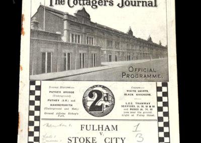 Fulham v Stoke City 26.11.1932