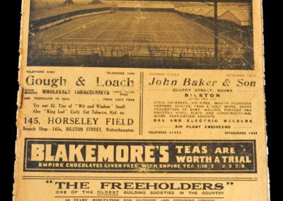 Wolves v Arsenal 15.01.1938