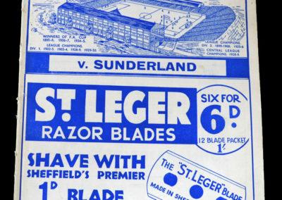 Sheff Wed v Sunderland 29.08.1936