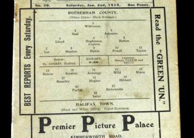 Rotherham County v Halifax 02.01.1915