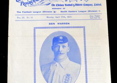 North v South (Ben Warren Testimonial) 27.04.1914