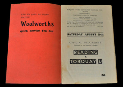 Torquay v Reading 29.08.1936