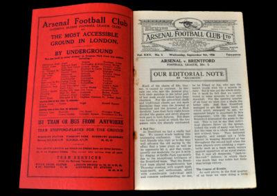 Arsenal v Brentford 09.09.1936
