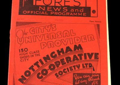 Notts Forset v Southampton 16.09.1936