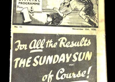Newcastle v Fulham 12.11.1938