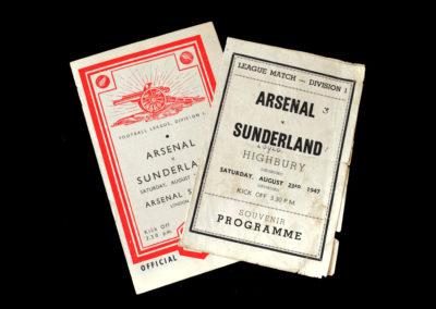 Arsenal v Sunderland 23.08.1947