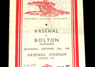 Arsenal v Bolton 10.09.1947