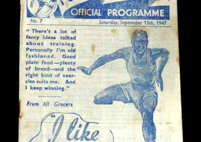 Arsenal v Preston North End 13.09.1947