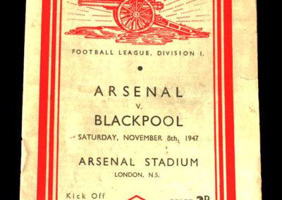 Arsenal v Blackpool 08.11.1947