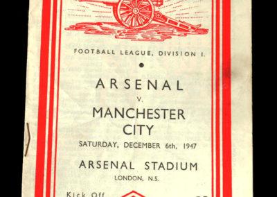 Arsenal v Man City 06.12.1947